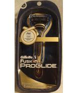 Gillette Fusion Proglide 1 razor with 2 cartridges Gold color - $13.71
