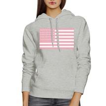 Breast Cancer Awareness Pink Flag Grey Hoodie - $25.99+