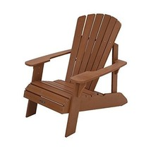 Outdoor Patio Garden Chaise Back Yard Faux Wood Adirondack Chair Light B... - $192.51