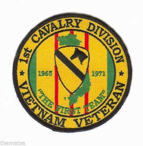"ARMY VIETNAM VETERAN 1ST CAVALRY DIVISION 4"" EMBROIDERED MILITARY PATCH"