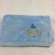 "Circo Baby Blanket Blue Gray Whale Lovey Plush 31"" Square Soft - $304,40 MXN"