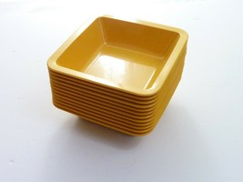 Vintage mid century modern Finland Sarvis Yellow Snack Bowls - $59.00