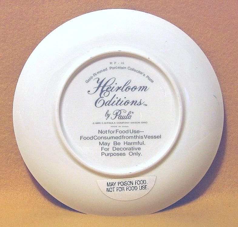 Heirloom Editions Always 'n Ever Collectors Plate HP-86  NIB