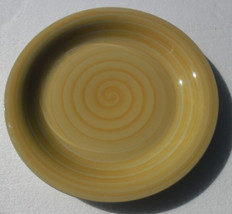 New Handpainted & Hand Crafted Yellow Color Swirl Design Collectible Lar... - $15.99