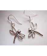 Small Dragonfly Earrings 925 Sterling Silver Dangle Corona Sun Jewelry - £7.69 GBP