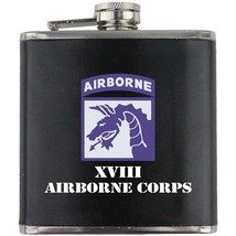 Army 18th Airborne XVIII Veteran Full Color Groomsman Gift Leather Wrap Flask - $19.79