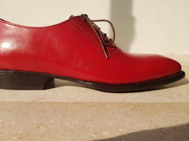 Handmade Red Heart Medallion Lace up Dress/Formal Oxford Shoes For Men image 6