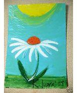 ACEO #1 Flower Power Folk Art Painting K. Iuppa - $9.64