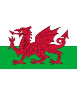 Laminated Wales Flag vinyl car decal sticker 240mm x 144mm Welsh bumper - $12.46