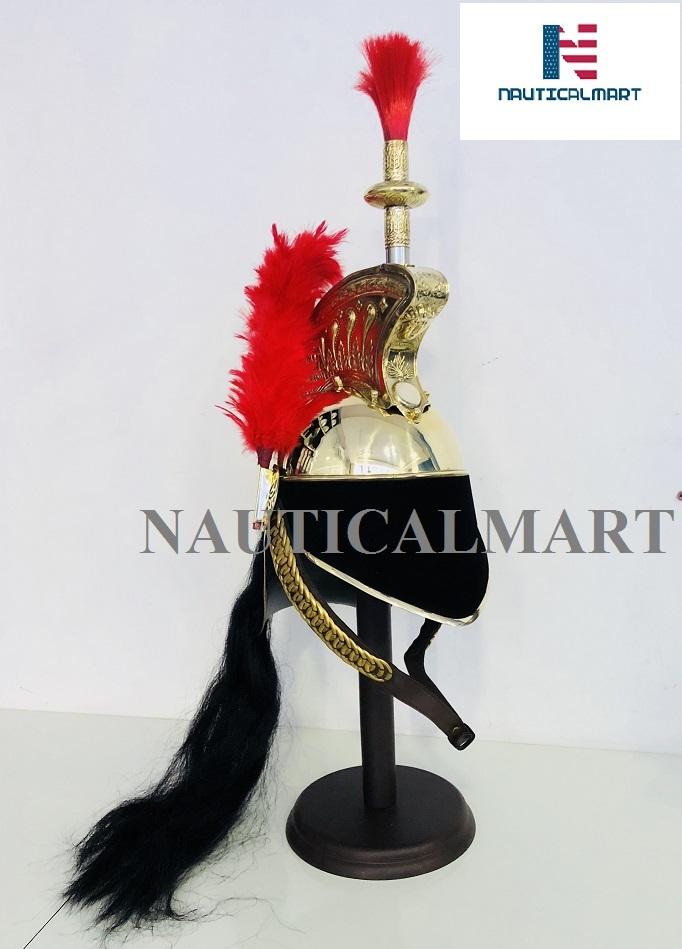 Brass French curassiere Officer's Helmet Napoleon Style Helmet