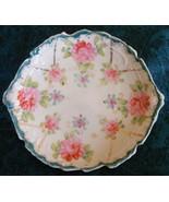 Shabby chic floral rose dessert plate - $5.99
