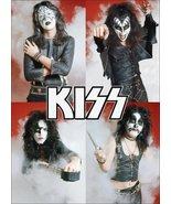 KISS Band 1974 Group Shot Stand-Up Display - Glam Makeup Collectibles Ro... - $15.99