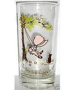 HOLLY HOBBIE TIME TO BE HAPPY PROMO GLASS 1967 ... - $5.89