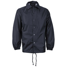 vkwear Men's Water Resistant Windbreaker Coach Jacket New /w Defect Navy Size M