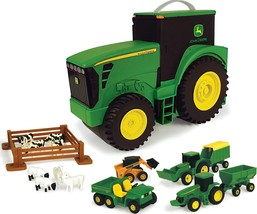TOMY John Deere Durable Vehicle Toy Set for Kids with Tractor Shaped Por... - $28.99