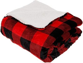 Mindful Design Buffalo Plaid Convertible Sleeping Bag Blanket with Sherpa Lining