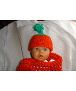 (76)Hand crocheted multi Easter carrot & beanie/cap/hat photography prop - $20.00