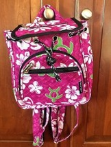 Hawaii Spirit Hawaiian Print Pink School Backpack Hiking Travel Shopping... - $15.88