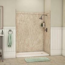 Alcove Bathtub Shower Wall Surround 36 in. x 60 in. x 80 in. Alaskan Ivory Beige - $1,126.95