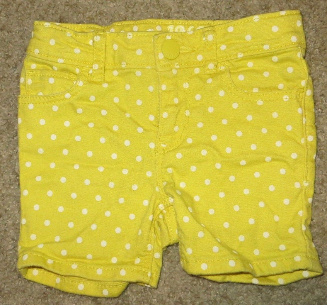 Primary image for EUC Baby Gap Yellow White Polka Dots Shorts Size 18-24 18 24 Months