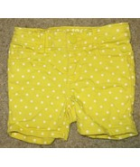 EUC Baby Gap Yellow White Polka Dots Shorts Size 18-24 18 24 Months - $2.99