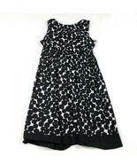 Motherhood Maternity Dress Medium Black White Above Knee Polka Dot Women... - $13.48