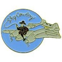 USAF SKY COWBOY NOSE ART PIN - $5.93