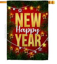 Lightful New Year - Impressions Decorative House Flag H116018-BO - $40.97