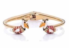New Kate Spade Gold Plated Taking Flight Pelican Open Hingle Bracelet Cu... - $38.99