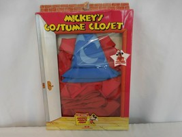 Disney Mickey Mouse Sorcerers Apprentice Outfit Costume Closet Worlds of Wonder  - $50.51