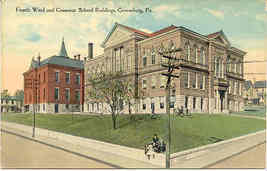 Grammar School Greensburg Pennsylvania Vintage Post Card - $6.00