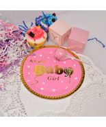 Baby Shower Paper Plates Pink Gold Girl - $21.98