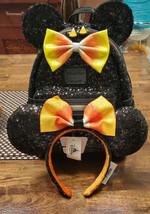 Disney Parks Loungefly Candy Corn Mickey Halloween Backpack & Ears NWT  - $103.95