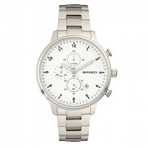 Breed Holden Chronograph Bracelet Watch w/ Date - Silver - $505.00