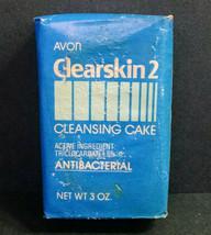 Vintage NOS AVON Clearskin 2 Cleansing Cake Bar Soap, Antibacterial, 3 O... - $5.00