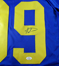 AARON DONALD / AUTOGRAPHED LOS ANGELES RAMS CUSTOM FOOTBALL JERSEY / COA image 4