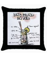Throw pillow case chill out bar cocktail long island ice tea - $19.50