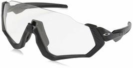Oakley Men's Flight Jacket Non-Polarized Iridium Rectangular Sunglasses Steel... - $324.00