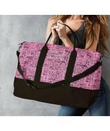Victoria's Secret Black Pink Monogram Getaway Duffle Bag - $195.00