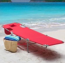 Folding chaise lounge red lay thumb200
