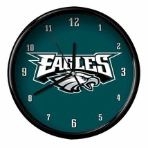 "Philadelphia Eagles Logo on 12"" Round Wall Clock by WinCraft - $36.99"