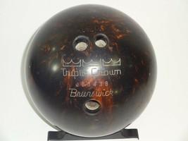Brunswick Triple Crown J00438 Brown Copper Swirl Bowling Ball 14 lbs 10 ... - $37.99