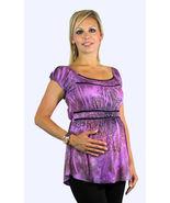 Purple/Black Sublimated Princess Peasant Top/Black Pants Maternity Set - €27,54 EUR