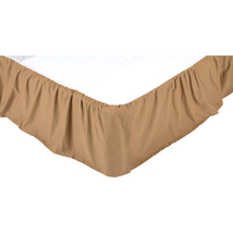 Solid Khaki Bed Skirt - All Sizes Available - Vhc Brands