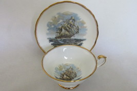 Rare Ship Pattern Cup & Saucer - Salisbury English Bone China, 1950s / 1... - $24.99