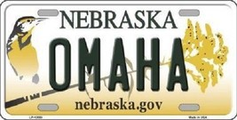NCAA OMAHA  License Plate State Background Metal Tag  U.S.A. Nebraska UN - $10.64