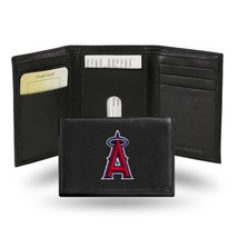 Anaheim Angeles Wallet Embroidered Trifold Official MLB RICO Leather Black - $33.45