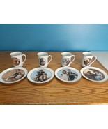 CW Collection, Set of 4 Normal Rockwell, Young Love Series, 1982, Teacup... - $30.64