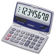 CASIO SL-100L Solar Calculator with Folding Hard Case - $21.33
