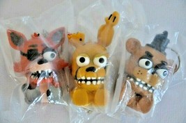 Funko Five Nights At Freddy's Squeeze Key-chain Backpack Hanger Lot of 3... - $13.85